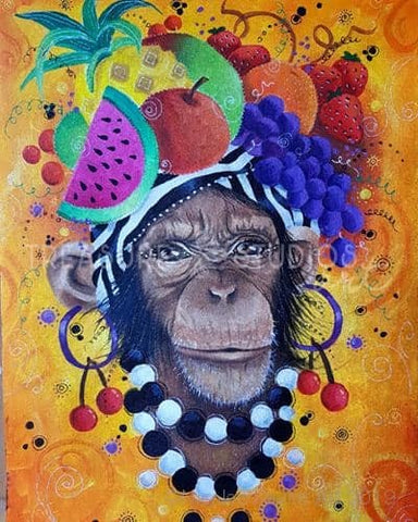 Carmen of Monkey  by Nicolee Payne | Diamond Painting - Treasure Studios Art