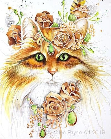 Cat Dressed for the Night by Nicolee Payne | Diamond Painting - Treasure Studios Art
