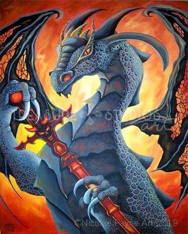 Dragon Sword by Nicolee Payne | Diamond Painting - Treasure Studios Art