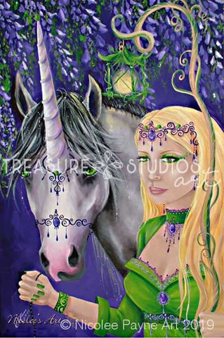 Emerald Elf by Nicolee Payne | Diamond Painting - Treasure Studios Art