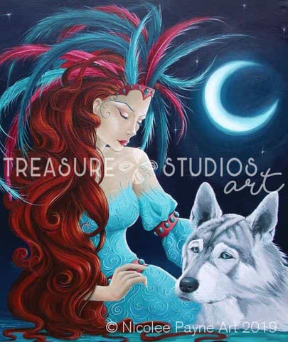 Princess & the Wolf by Nicolee Payne | Diamond Painting - Treasure Studios Art