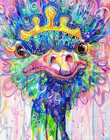 Grace the Emu Queen by Nicolee Payne | Diamond Painting - Treasure Studios Art