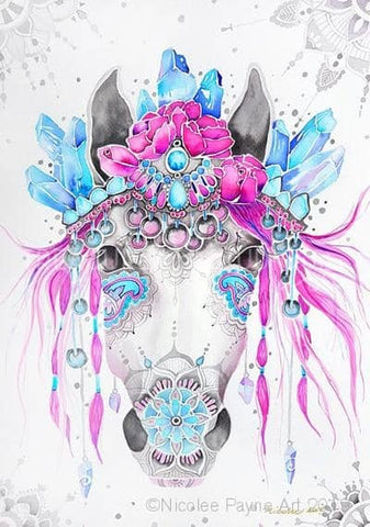 Gypsy Boho Horse by Nicolee Payne | Diamond Painting - Treasure Studios Art
