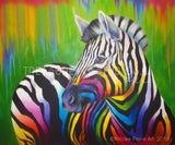 Halftone Zebra by Nicolee Payne | Diamond Painting - Treasure Studios Art