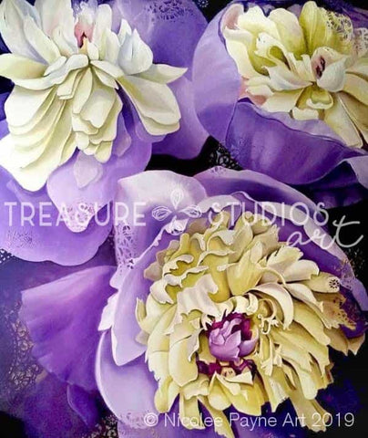 Purple Peonies by Nicolee Payne | Diamond Painting - Treasure Studios Art