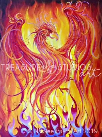 Phoenix by Nicolee Payne | Diamond Painting - Treasure Studios Art