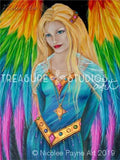 Rainbow Angel by Nicolee Payne | Diamond Painting - Treasure Studios Art