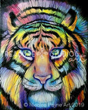 Rainbow Tiger by Nicolee Payne | Diamond Painting - Treasure Studios Art