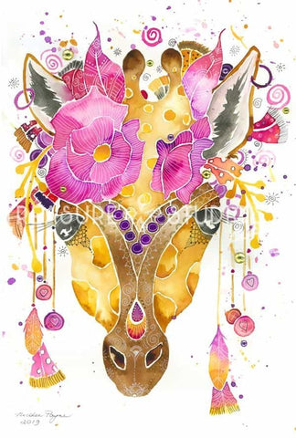 Pretty Giraffe by Nicolee Payne | Diamond Painting - Treasure Studios Art