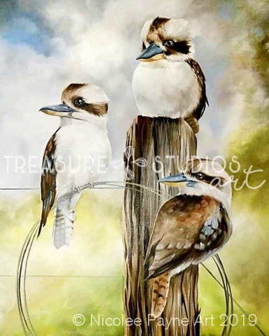 Kookas on a Post by Nicolee Payne | Diamond Painting - Treasure Studios Art