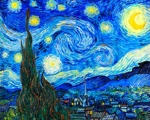 Starry Night by Van Gogh | Crystal Rhinestones | Diamond Painting - Treasure Studios Art