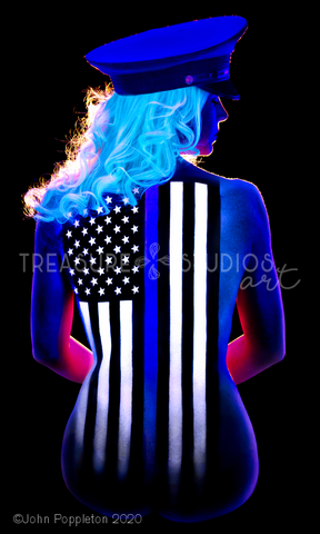 Thin Blue Line by John Poppleton | Diamond Painting - Treasure Studios Art