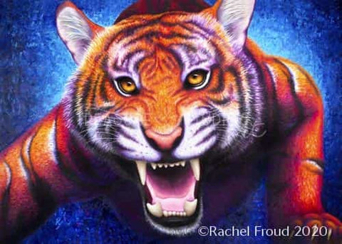 POWER! Tiger by Rachel Froud | Diamond Painting - Treasure Studios Art