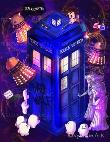 Timey Wimey Doctor by Nystique Arts | Diamond Painting