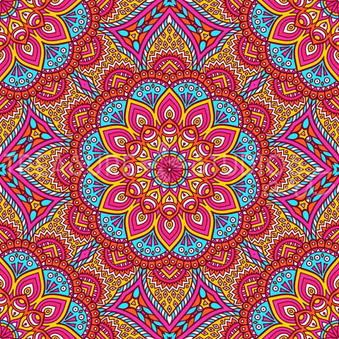 Candy Cane Mandala by VISnezh  | Diamond Painting - Treasure Studios Art