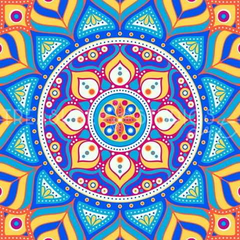 Circus Colors Mandala by VISnezh  | Diamond Painting - Treasure Studios Art