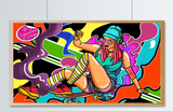 Skater Chick  | SIGNATURE |  Diamond Painting - Treasure Studios Art