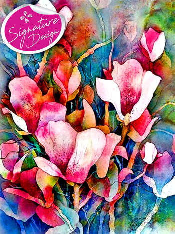 Watercolor Flowers |  SIGNATURE | Diamond Painting - Treasure Studios Art