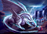 White Dragon by Anthony Christou | Diamond Painting - Treasure Studios Art