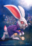 White Rabbit by Anthony Christou | Diamond Painting - Treasure Studios Art