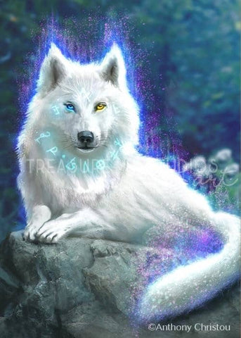 Wolf Captuveri by Anthony Christou | Diamond Painting - Treasure Studios Art