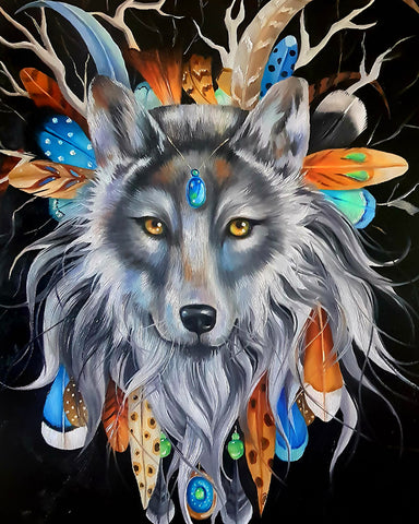 Wolf Chief by Nicolee Payne | Diamond Painting