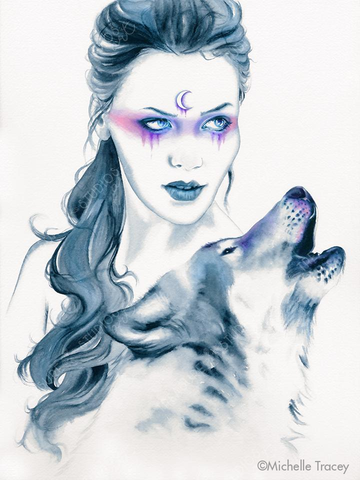 Wolf Totem by Michelle Tracey | Diamond Painting