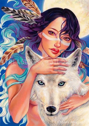 Wolf Eyes by Maria Abagnale | Diamond Painting - Treasure Studios Art