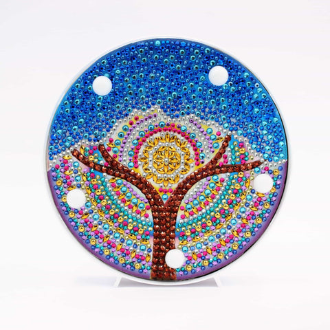 Blue Tree of Life  | LED Light | Diamond Painting - Treasure Studios Art