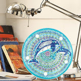 Dolphins | LED Light | Diamond Painting - Treasure Studios Art