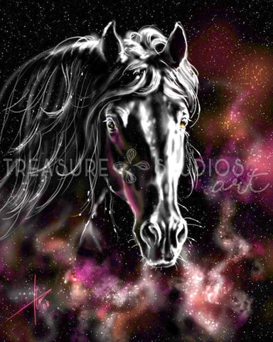Galaxy Horse by Polina Bivsheva | Diamond Painting - Treasure Studios Art