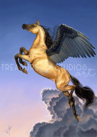 Mighty Pegasus by Polina Bivsheva | Diamond Painting - Treasure Studios Art