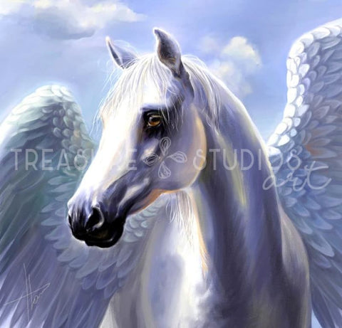 Pegasus of the Skies by Polina Bivsheva | Diamond Painting - Treasure Studios Art
