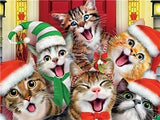 Singing Christmas Cats by Howard Robinson | Diamond Painting - Treasure Studios Art