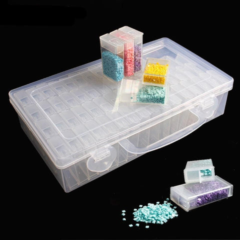 64pcs Diamond Painting Plastic Storage Box | Diamond Painting - Treasure Studios Art