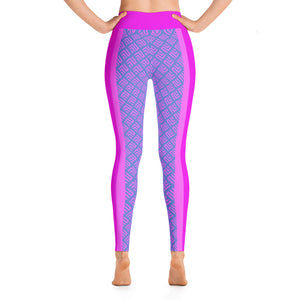 Pink and Blue Yoga Leggings