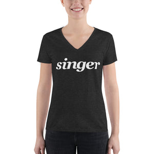 Singer Women's Deep V-neck Tee