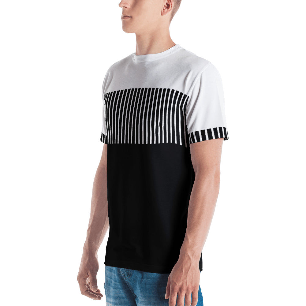 Men's Black and White Graphic T-shirt