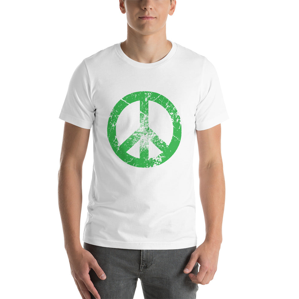 Peaceful White Short-Sleeve T-Shirt