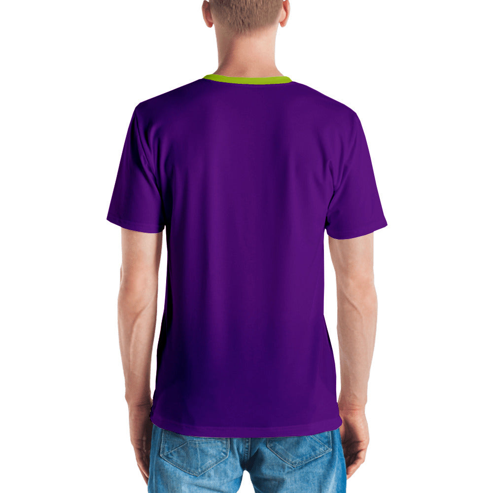 Purple and Green Graphic Men's T-shirt