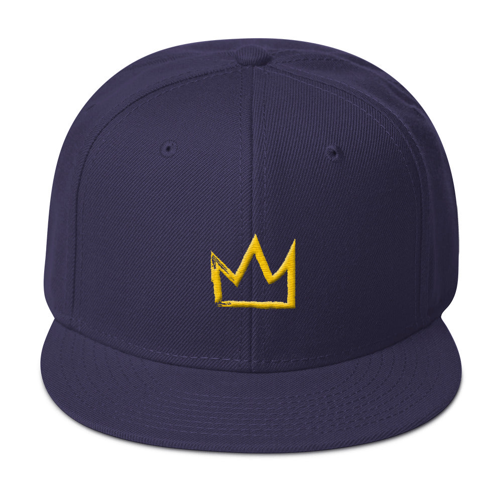 I AM KING Gold Snap-back Hat
