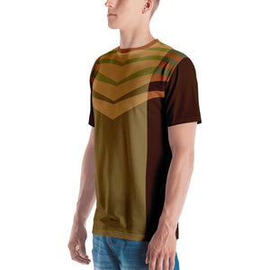 Green and Brown Graphic Men's T-shirt