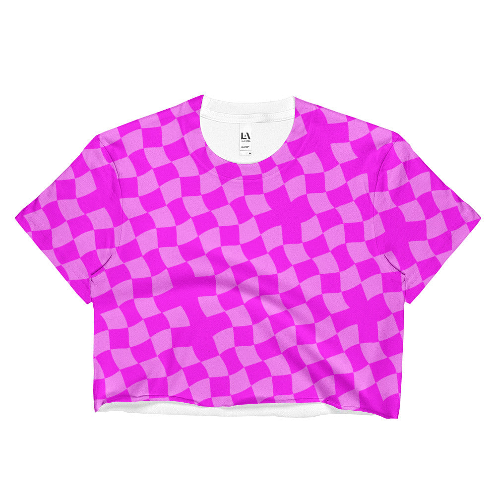 Pink Diamond Ladies Crop Top