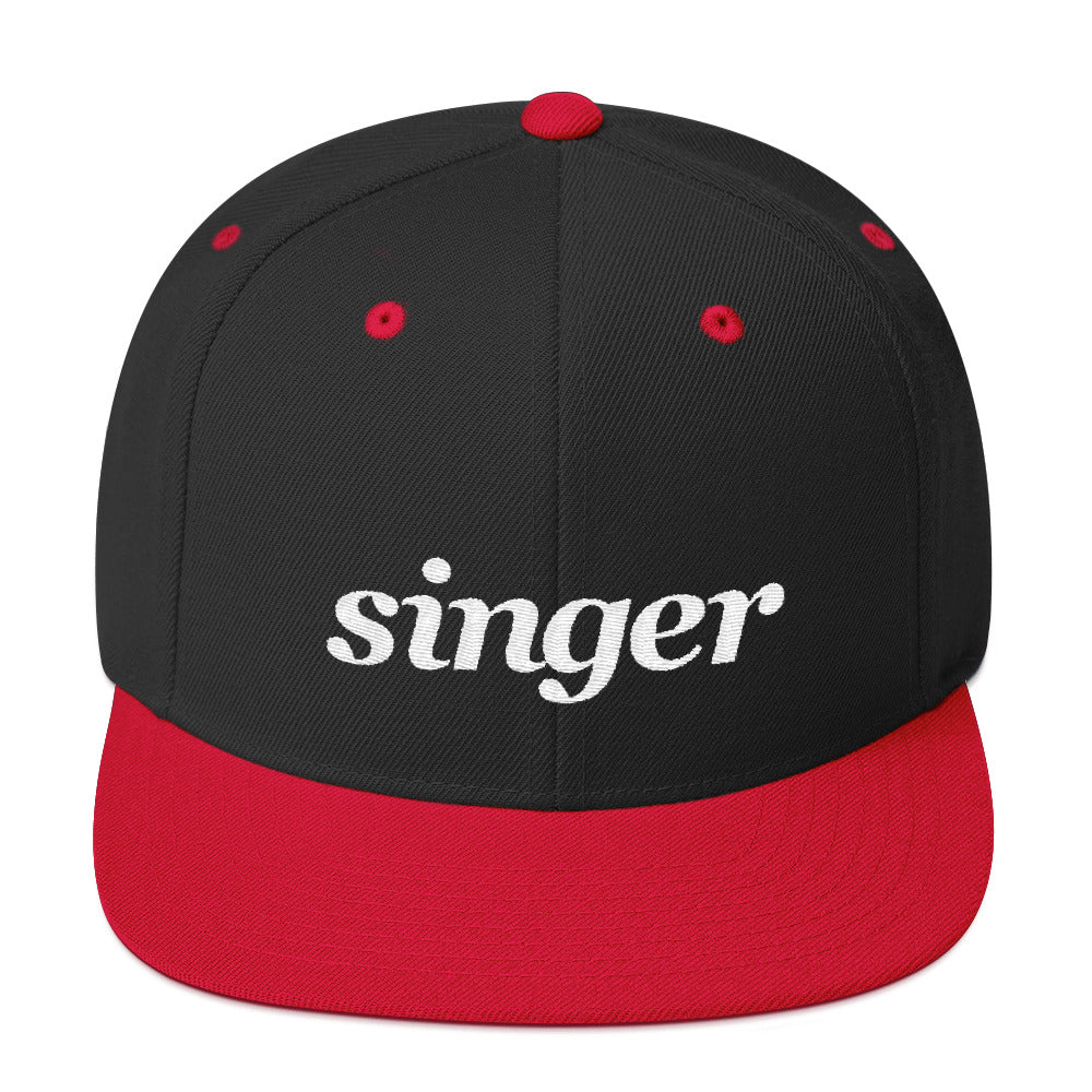 Singer Snap-back Black Hat