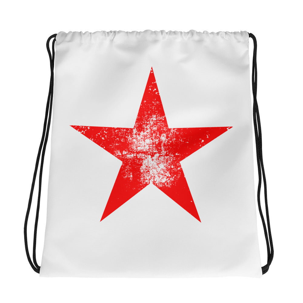 Shining Star Red Drawstring Bag
