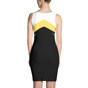 Black Yellow and Teal Spandex Dress