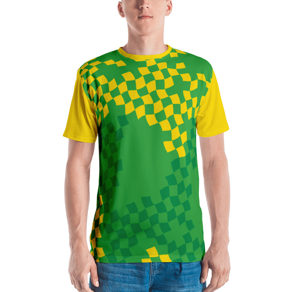Green and Yellow Diamond Men's T-Shirt
