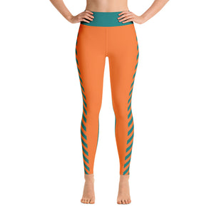 Green and Orange Yoga Leggings