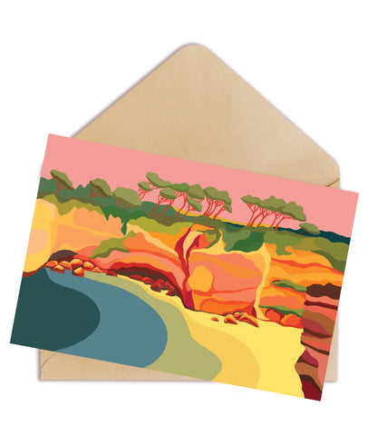 Loch Ard Gorge Side View Greeting Card
