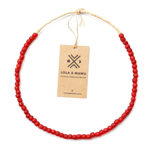 Recycled Glass Beads XS - Berber Red